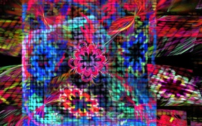 Picture flowers, abstraction, background, mesh, Wallpaper, patterns, blur, fractal, grille