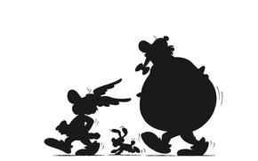 Picture Ideafix, Obelix, Asterix