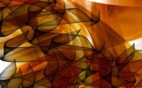 Picture wave, line, bending, caramel dreams