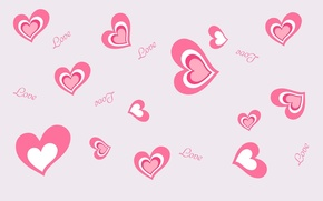Wallpaper love, the inscription, mood, heart, hearts, love, pink