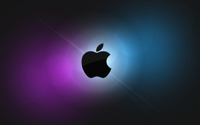 Picture purple, blue, apple, mac os