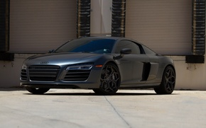 Picture Audi, black, tuning, V10, r8