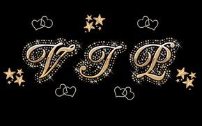 Picture gold, stars, glamour, hearts, luxury, VIP, diamonds