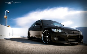 Wallpaper the sky, clouds, Wallpaper, 360 forged, BMW 335i, Beha coupe