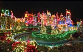 Wallpaper holiday, Disneyland, Christmas, beautiful, fun, bright, Christmas, the sky, Disneyland