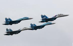 "Picture fighters, Sukhoi, aerobatic team, Su-27, Russian, ""Falcons Of Russia"""