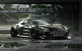 Picture Aston Martin, Black, Tuning, Future, Supercar, ONE-77, by Khyzyl Saleem