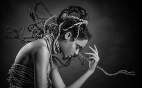 Picture girl, profile, hairstyle, Joachim Bergauer, Verica