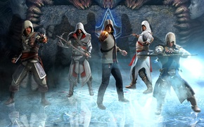Picture Ezio, Brotherhood, Assassin's Creed, altair, Desmond Miles, Ezio Auditore da Firenze, Connor Kenway, Black Flag, …