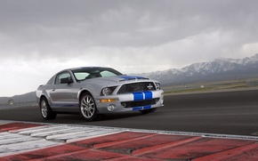 Wallpaper mountains, Shelby, GT500KR, muscle car, racing track