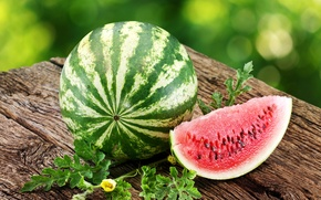 Picture summer, table, watermelon, the flesh, slice