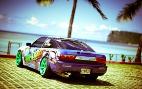 Picture tuning, white, S15, Silvia, Nissan, white, Nissan, tuning, Sylvia