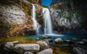 Picture rock, France, waterfall, Languedoc-Roussillon, Cascade Des Anglais