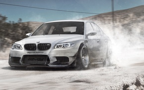Picture road, car, BMW, BMW, sedan, paint, E60, v10, BMW M5, Manina, phothoshop, by DiMANLY, M5, …