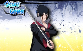 Picture katana, art, naruto, manga, naruto, Uchiha Sasuke