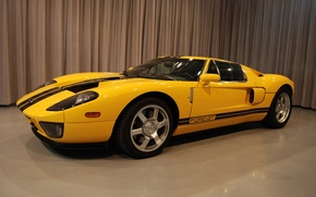 Picture Ford, yellow, room, drapes, GT