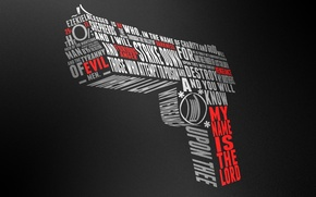 Wallpaper gun, words, desert eagle