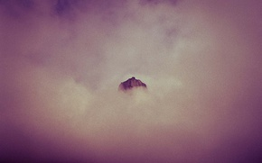 Picture clouds, mountain, peak