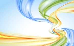 Picture abstraction, background, rainbow, colors, abstract, pastel, waves, rainbow, background, creative