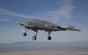 Picture the sky, flight, combat, chassis, Х47В, Unmanned aerial vehicle, Northrop Grumman Corporation