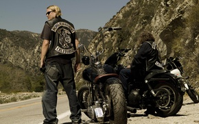 Wallpaper the series, charlie hunnam, sons of anarchy, Charlie Hunnam, biker, motorcycle