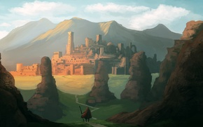 Picture art, painting, concept art, ancient city