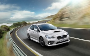 Picture WRX, subaru, road, speed, 2015