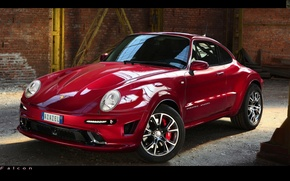 Picture red, tuning, porshe, crossover, azazel