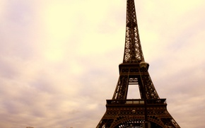 Picture the sky, clouds, clouds, the city, Eiffel tower, building, Paris, home, France, paris, street, france