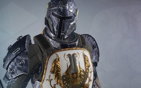 Wallpaper background, warrior, art, helmet, armor, coat of arms, Destiny