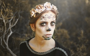 Picture face, paint, day of the dead, day of the dead