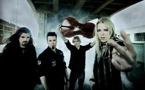 Picture smoke, group, cello, musicians, Apocalyptica, progressive metal, symphonic metal, instrumental metal
