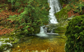 Picture Nature, Waterfall, Autumn, Nature, River, Autumn, Waterfall, River