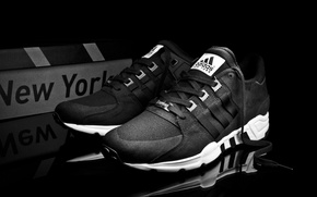 Picture white, Adidas, Adidas, New York, black, EQT support
