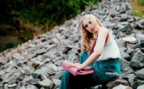 Picture girl, pose, background, Lara Waltemode, Andreas-Joachim Lins