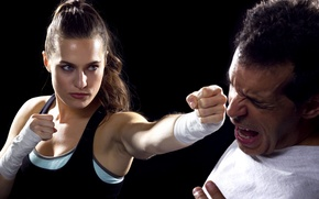 Picture self defense, punch, training
