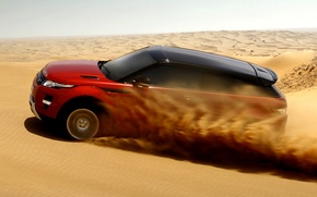 Picture sand, the sky, red, desert, coupe, Land Rover, Range Rover, Coupe, Evoque, crossover, Land Rover, …