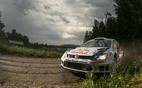 Picture Grass, Dust, Forest, Volkswagen, Clouds, WRC, PhotoShop, Rally, Rally, Polo