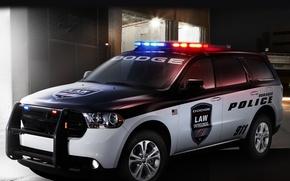 Picture car, lights, Dodge, car, police, siren, Durango