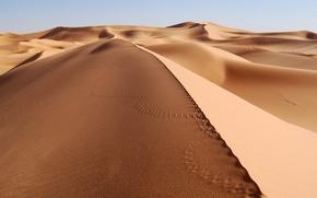 Wallpaper Desert, Traces, Sand