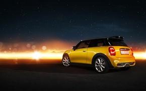 Picture yellow, Mini, mini, Cooper, Cooper S, rearside