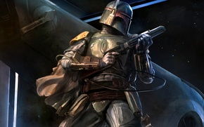 Picture star wars, fantasy, art, artwork, boba fett