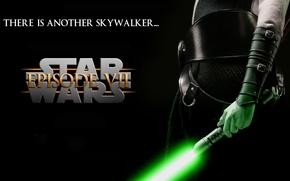 Picture green, Star Wars, fantasy, science fiction, Skywalker, Jedi, film, lightsaber, warrior, movies, The Force Awakens, ...