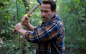 Picture Maggie, horror, axe, Arnold Schwarzenegger