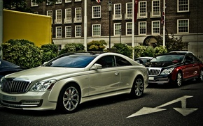 Picture Road, The city, The building, City, Maybach, Coupe, roads, buildings, 57S, Xenatec