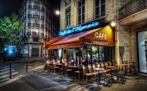 Wallpaper Paris, the evening, cafe, Paris, France, France, capital