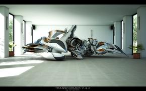 Picture room, robot, transformer v4