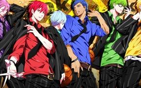 Picture glasses, tie, belt, Anime, shirt, guys, blue eyes, red eyes, green eyes, blue hair, short …
