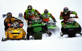 Picture snow, race, snowmobile