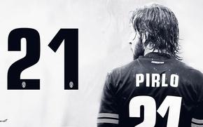 Picture Juventus, Andrea Pirlo, Andrea Pirlo, midfielder, was an Italian football player